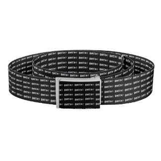 Bored Comic Style Word Typographic Pattern Belt