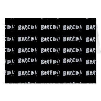 Bored Comic Style Word Typographic Pattern Card