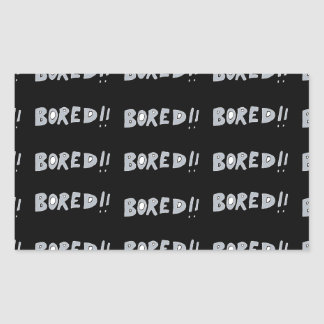 Bored Comic Style Word Typographic Pattern Sticker