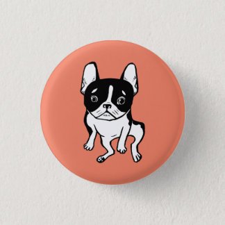 Bored Frenchie 1 Inch Round Button