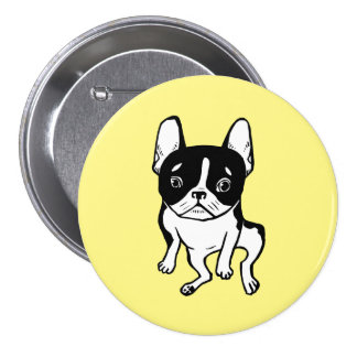 Bored Frenchie 3 Inch Round Button