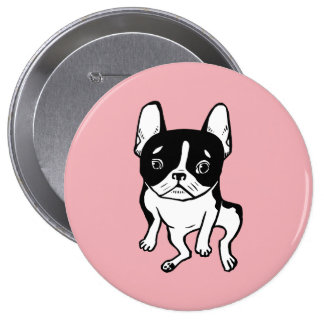 Bored Frenchie 4 Inch Round Button
