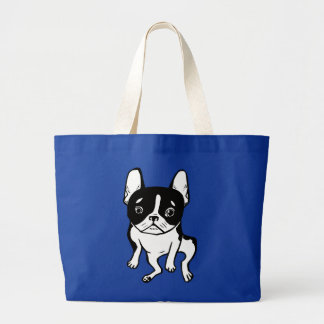 Bored Frenchie Large Tote Bag