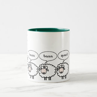 Bored Sheep Two-Tone Coffee Mug