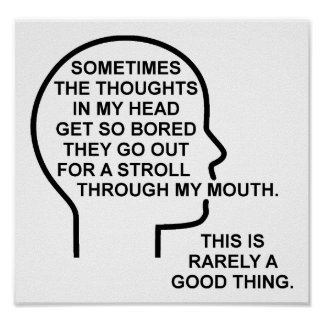 Bored Thoughts Funny Poster
