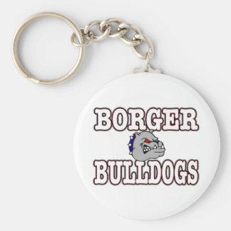 Borger Bulldogs! Basic Round Button Keychain