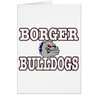 Borger Bulldogs! Greeting Card