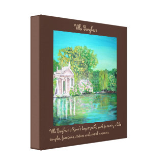 "Borghese Park - 12"" x 12"", 1.5"", Single Canvas Print"
