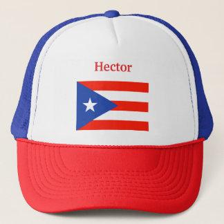 Boricua Banderas Puerto Rican Flag 4Hector Trucker Hat