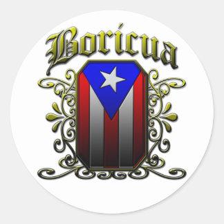 Boricua Classic Round Sticker