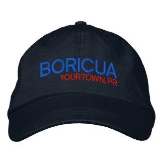 Boricua: Custom: Puerto Rico Embroidered Baseball Caps