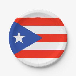 Boricua Fiesta Puerto Rican Bandera 4Teresa 7 Inch Paper Plate