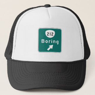 Boring, Road Marker, Oregon, USA Trucker Hat