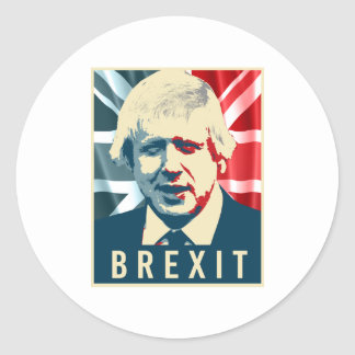 Boris Johnson Brexit Poster - -  Round Sticker