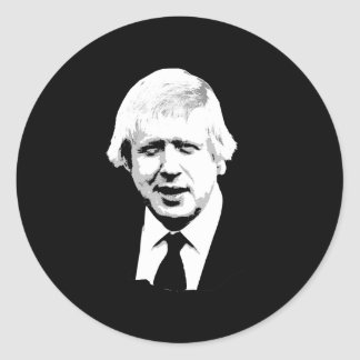 Boris Johnson - Bust - -  Round Sticker