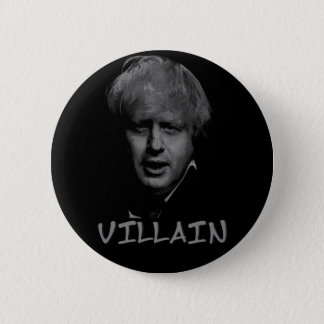 boris johnson villain 2 inch round button
