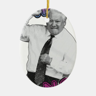 Boris Yeltsin Dance Dance Hot Summer 1996 Ceramic Ornament
