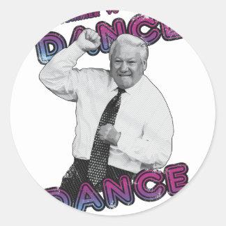 Boris Yeltsin Dance Dance Hot Summer 1996 Classic Round Sticker
