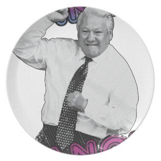 Boris Yeltsin Dance Dance Hot Summer 1996 Dinner Plates