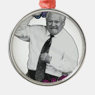 Boris Yeltsin Dance Dance Hot Summer 1996 Metal Ornament