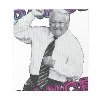 Boris Yeltsin Dance Dance Hot Summer 1996 Notepad