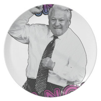 Boris Yeltsin Dance Dance Hot Summer 1996 Plate