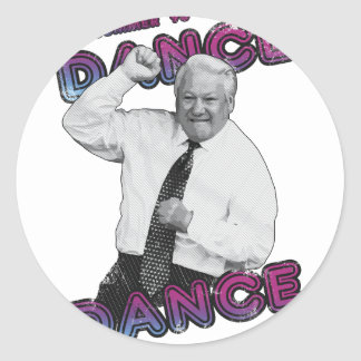 Boris Yeltsin Dance Dance Hot Summer 1996 Round Sticker