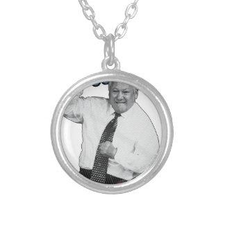 Boris Yeltsin Dance Dance Hot Summer 1996 Silver Plated Necklace