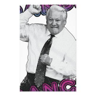 Boris Yeltsin Dance Dance Hot Summer 1996 Stationery