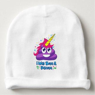Born A Unicorn  (Poop Emoji) Baby Beanie
