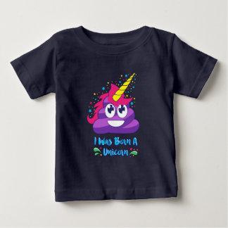 Born A Unicorn  (Poop Emoji) Baby T-Shirt