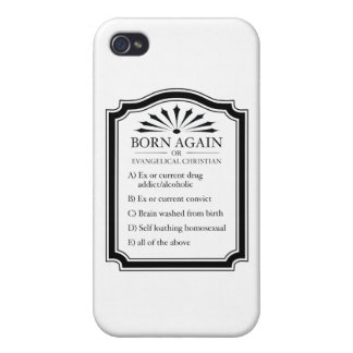 Born Again Means Crazy iPhone 4/4S Cover