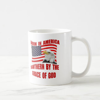 Born American Southern By Grace of God Mugs Cups