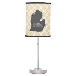 Born and Raised Michigan Table Lamp
