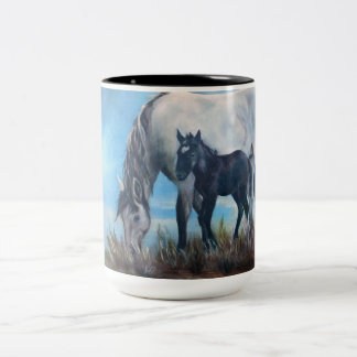 """Born At Dawn"" Wild Horse Coffee Mug"