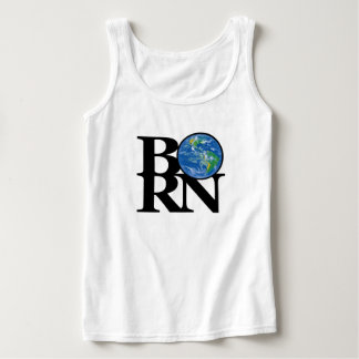 BORN Earth Ladies White Tank