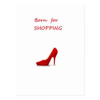 Born for shopping postcard