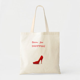 Born for shopping tote bag