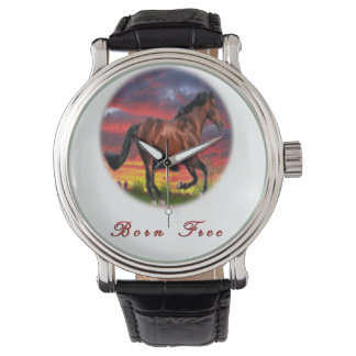 Born free horses wristwatches