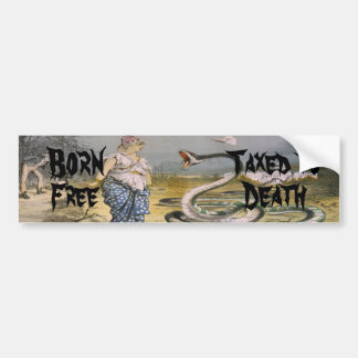 Born Free Taxed to Death-Change Text Bumper Sticker