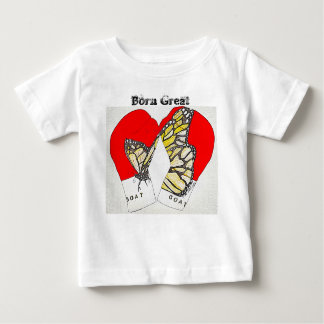 Born Great with Monarch Boxing Gloves Baby T-Shirt