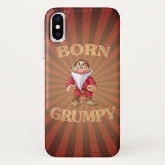 Born Grumpy iPhone X Case