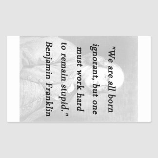 Born Ignorant - Benjamin Franklin Sticker