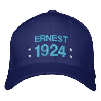 Born in 1924 or Any Year 90th Birthday V5Q ROYAL Embroidered Hat