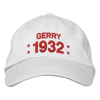 Born in 1932 or Any Year 85th Birthday W03A WHITE Embroidered Hats