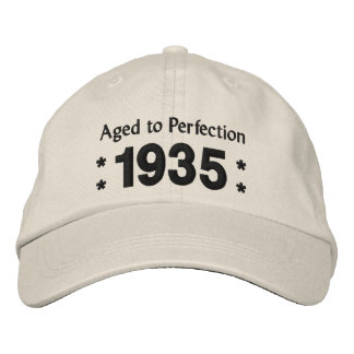 Born in 1935 AGED TO PERFECTION 80th Birthday V2C Embroidered Hat