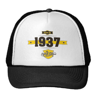 born in 1937 (choco&yellow) trucker hat