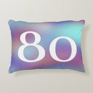 Born in 1937 Colorful 80th Birthday Reversible Accent Pillow