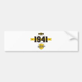 born in 1941 (choco&yellow) bumper sticker