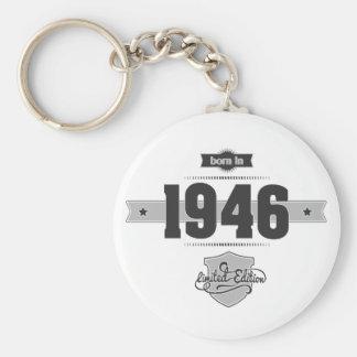 Born in 1946 (Dark&Lightgrey) Keychain